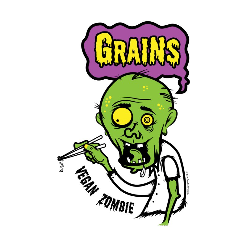 Vegan Zombie Kids Baby T-Shirt by It's Just DJ