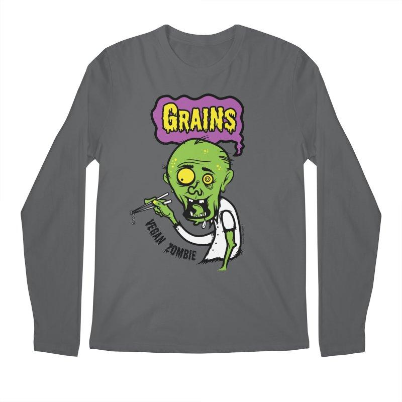 Vegan Zombie Men's Longsleeve T-Shirt by It's Just DJ