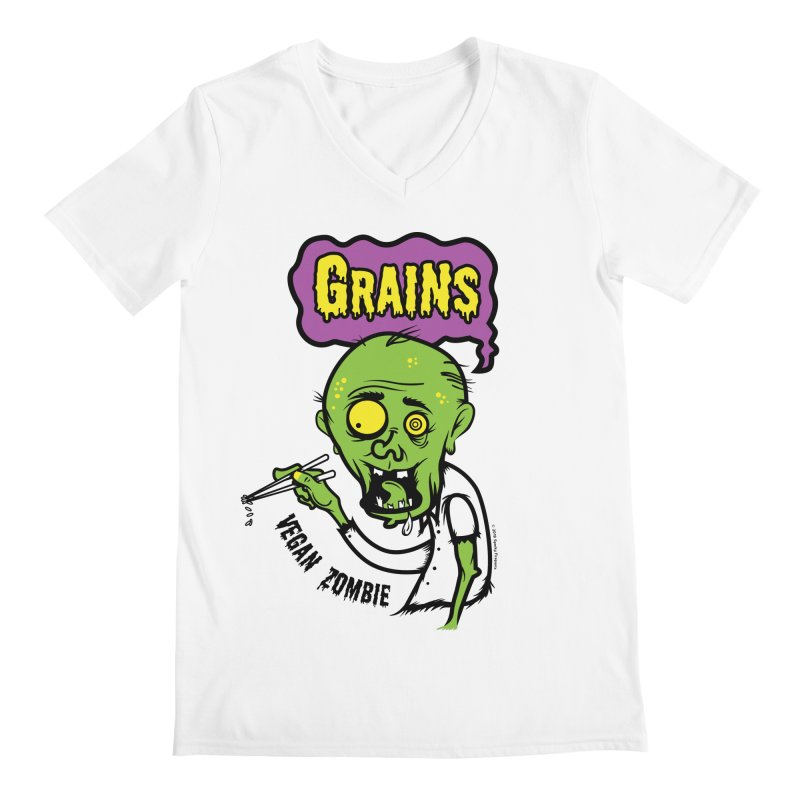 Vegan Zombie Men's V-Neck by It's Just DJ