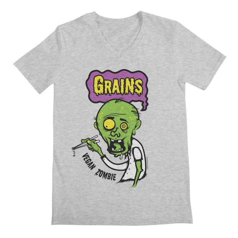 Vegan Zombie Men's V-Neck by It's Just DJ