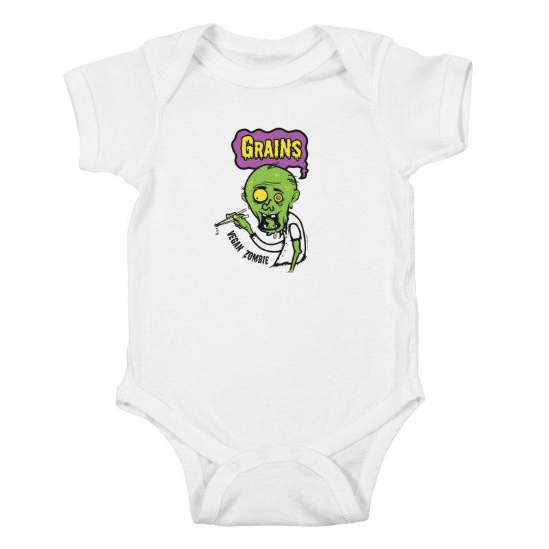 Vegan Zombie Kids Baby Bodysuit by It's Just DJ