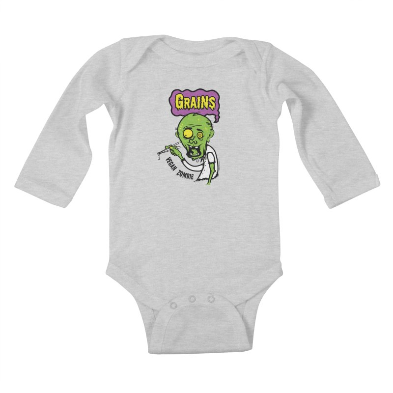 Vegan Zombie Kids Baby Longsleeve Bodysuit by It's Just DJ