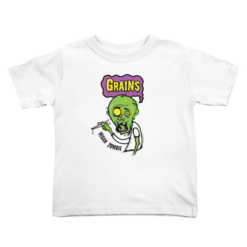 Vegan Zombie Kids Toddler T-Shirt by It's Just DJ