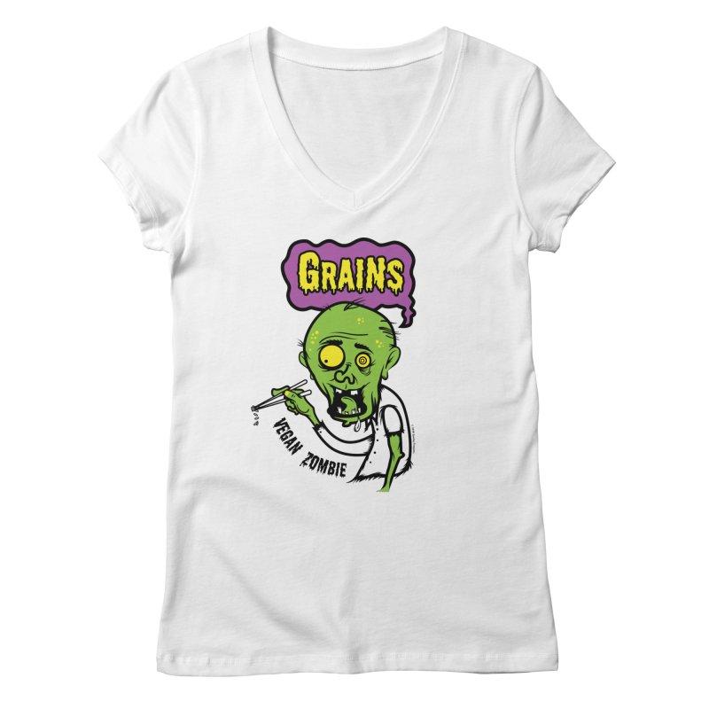 Vegan Zombie Women's V-Neck by It's Just DJ