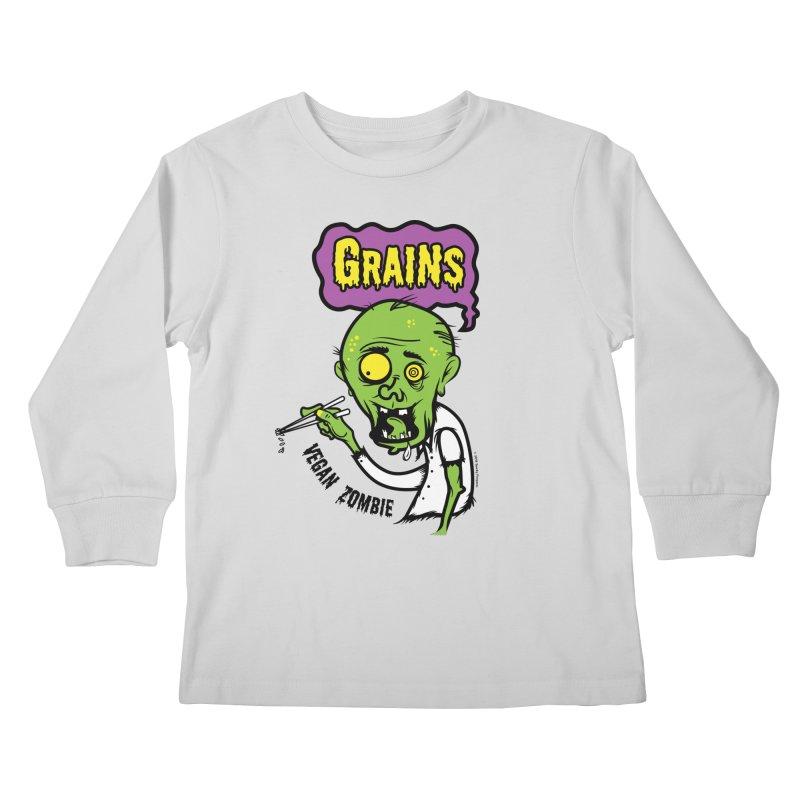 Vegan Zombie Kids Longsleeve T-Shirt by It's Just DJ