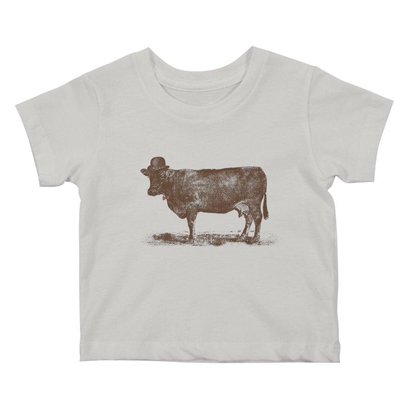 Cow Cow Nut Kids Baby T-Shirt by Speakerine / Florent Bodart