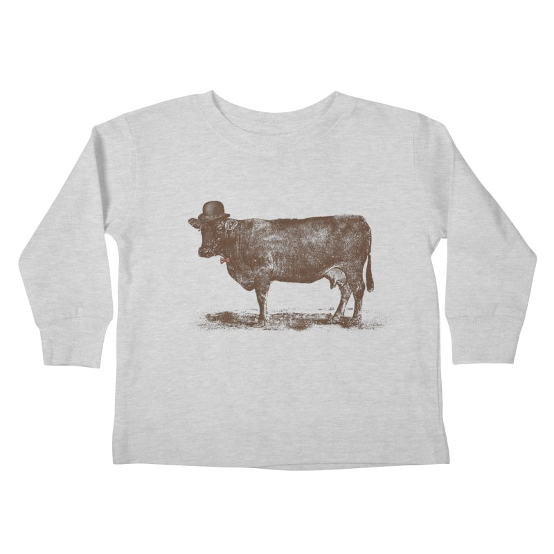 Cow Cow Nut Kids Toddler Longsleeve T-Shirt by Speakerine / Florent Bodart