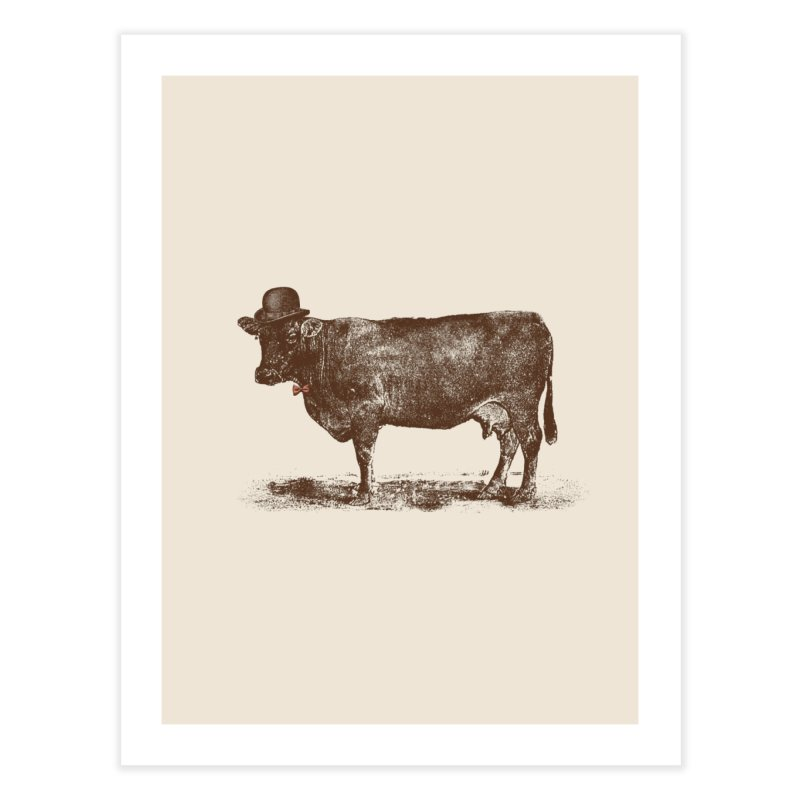 Cow Cow Nut Home Fine Art Print by Speakerine / Florent Bodart
