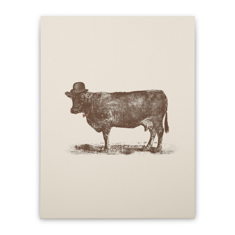 Cow Cow Nut Home Stretched Canvas by Speakerine / Florent Bodart