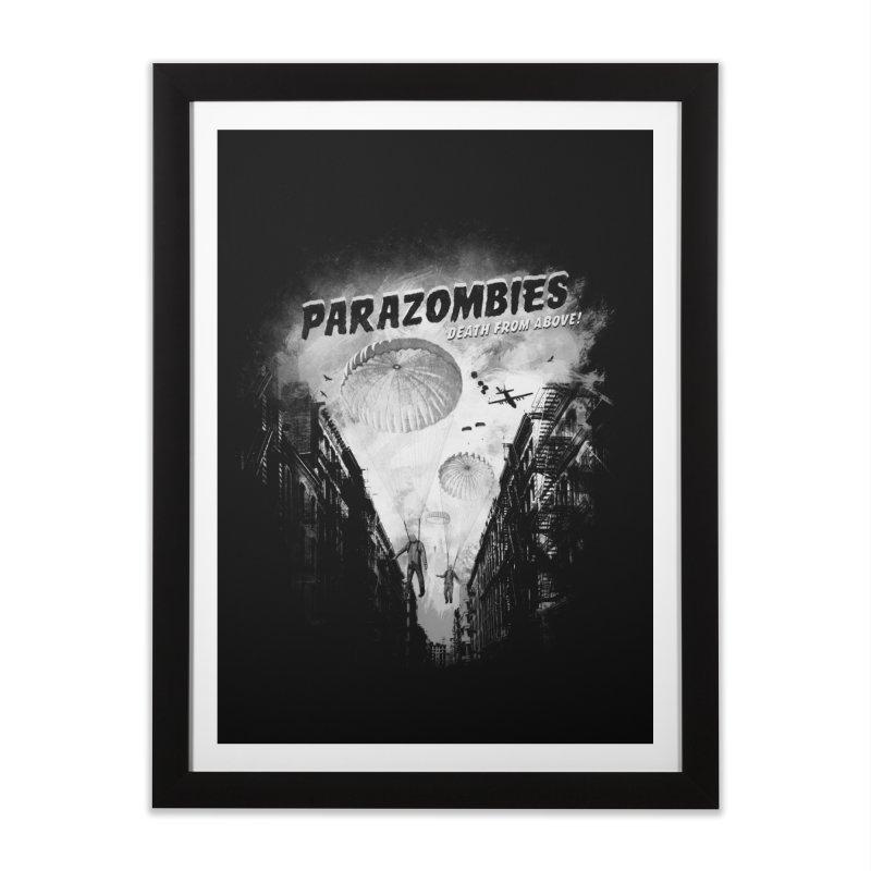 Parazombies Home Framed Fine Art Print by Speakerine / Florent Bodart