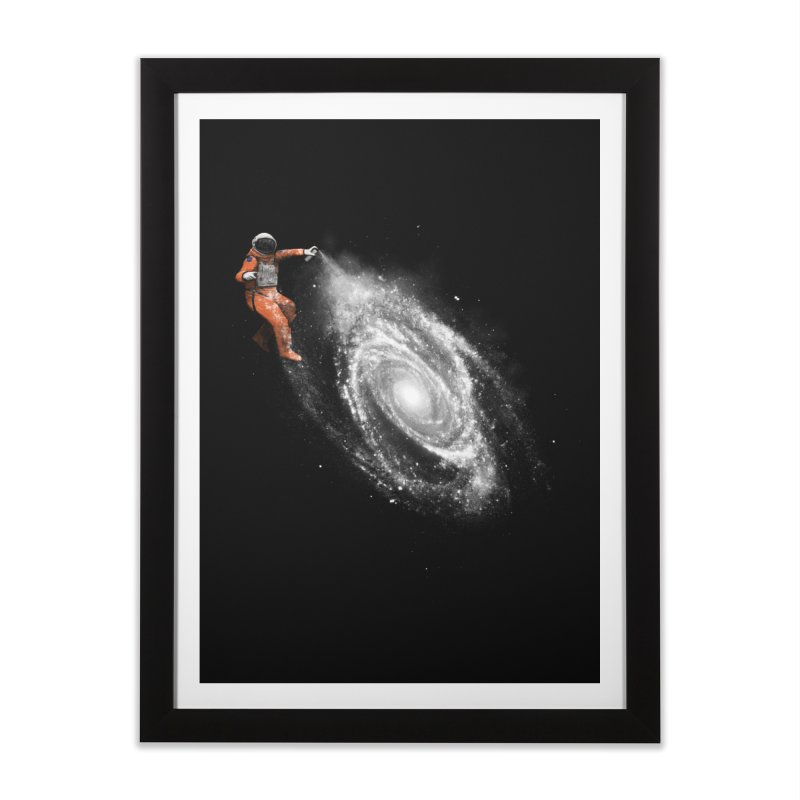 Space Art Home Framed Fine Art Print by Speakerine / Florent Bodart