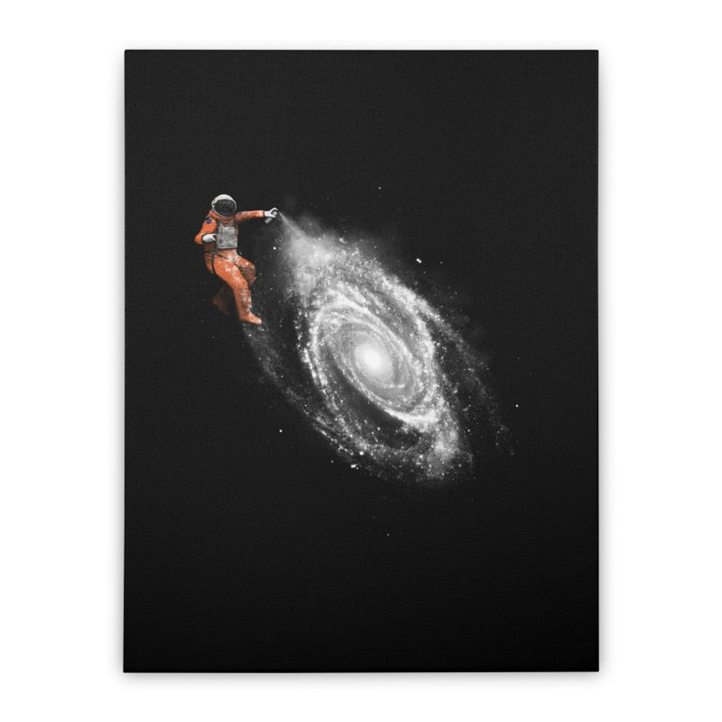 Space Art Home Stretched Canvas by Speakerine / Florent Bodart