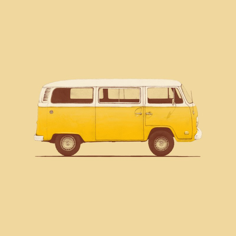 Yellow Van Kids T-Shirt by Speakerine / Florent Bodart