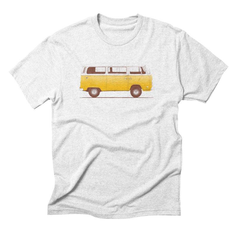 Yellow Van Men's Triblend T-shirt by Speakerine / Florent Bodart