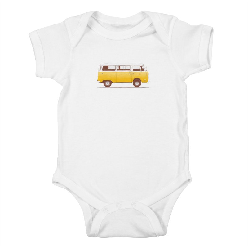 Yellow Van Kids Baby Bodysuit by Speakerine / Florent Bodart