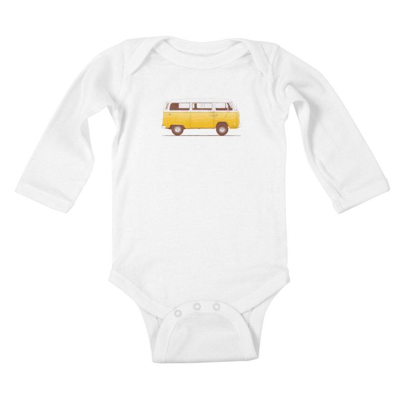 Yellow Van Kids Baby Longsleeve Bodysuit by Speakerine / Florent Bodart