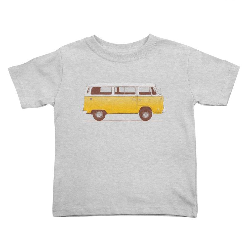 Yellow Van Kids Toddler T-Shirt by Speakerine / Florent Bodart