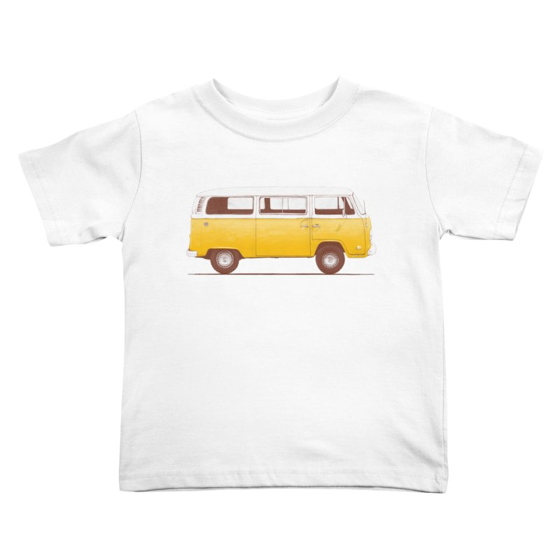 Yellow Van Kids Toddler T-Shirt by Speakerine / Florent Bodart