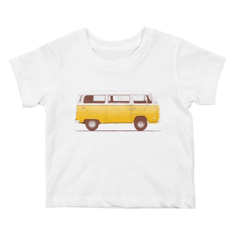 Yellow Van Kids Baby T-Shirt by Speakerine / Florent Bodart