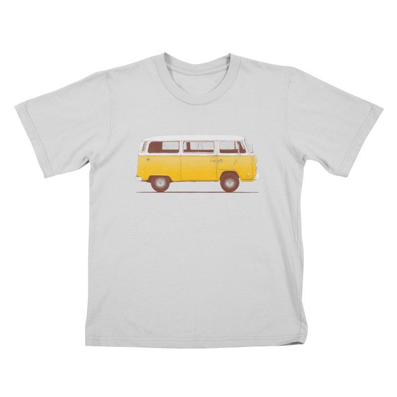 Yellow Van Kids T-Shirt by Speakerine / Florent Bodart