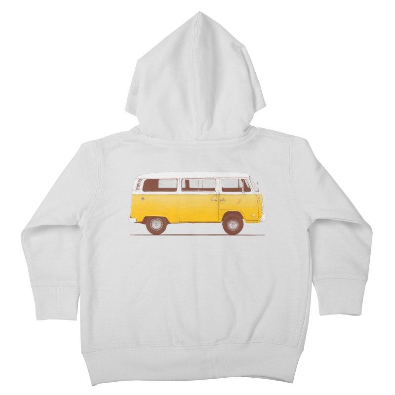 Yellow Van Kids Toddler Zip-Up Hoody by Speakerine / Florent Bodart
