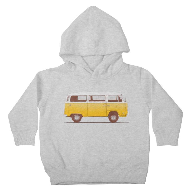 Yellow Van Kids Toddler Pullover Hoody by Speakerine / Florent Bodart