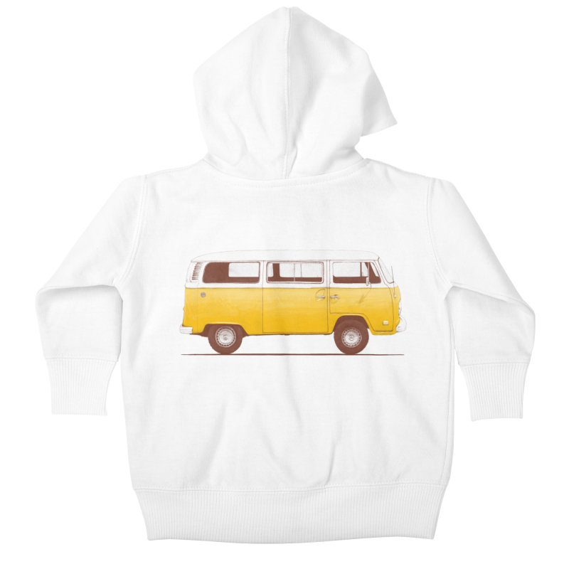 Yellow Van Kids Baby Zip-Up Hoody by Speakerine / Florent Bodart
