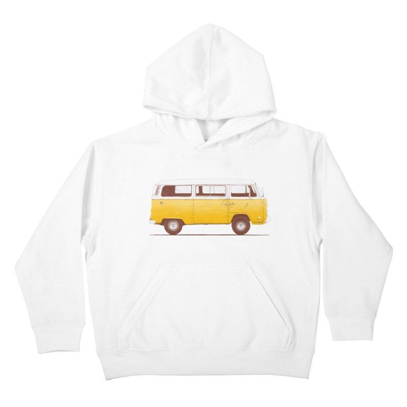 Yellow Van Kids Pullover Hoody by Speakerine / Florent Bodart