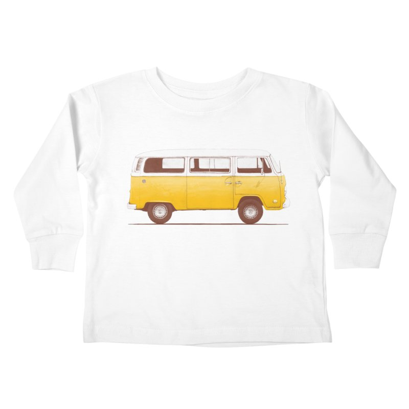 Yellow Van Kids Toddler Longsleeve T-Shirt by Speakerine / Florent Bodart