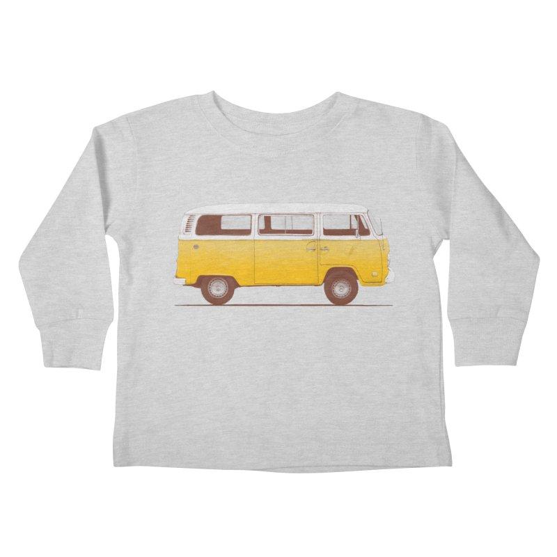 Yellow Van Kids Toddler Longsleeve T-Shirt by Speakerine / Florent Bodart