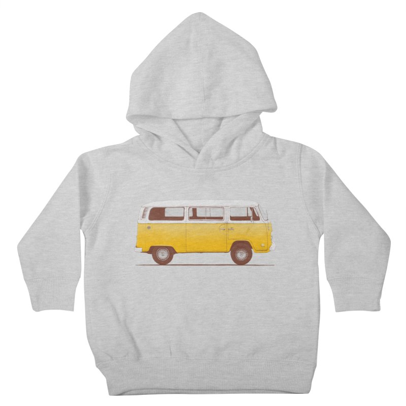 Yellow Van Kids Toddler Pullover Hoody by Speakerine / Florent Bodart
