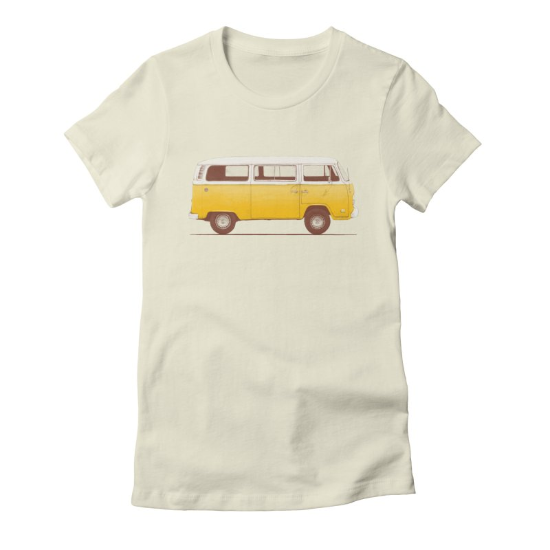 Yellow Van in Women's Fitted T-Shirt Natural by Speakerine / Florent Bodart