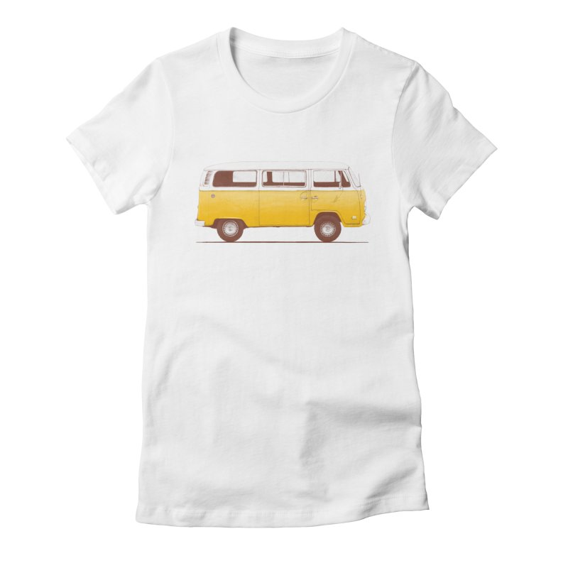 Yellow Van Women's Fitted T-Shirt by Speakerine / Florent Bodart