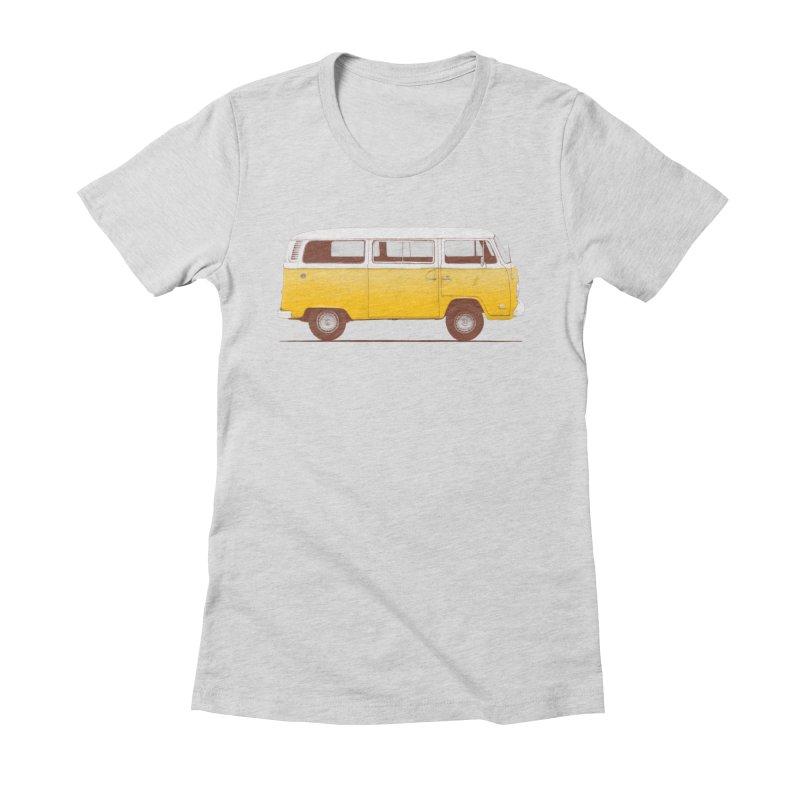 Yellow Van Women's Fitted T-Shirt by Speakerine / Florent Bodart