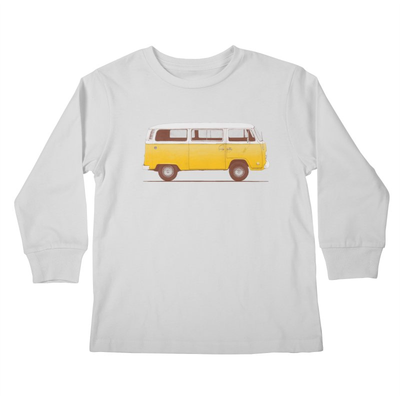 Yellow Van Kids Longsleeve T-Shirt by Speakerine / Florent Bodart