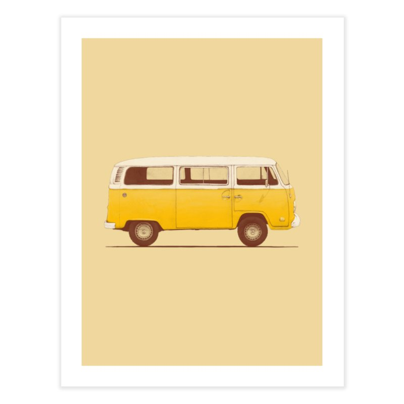 Yellow Van Home Fine Art Print by Speakerine / Florent Bodart