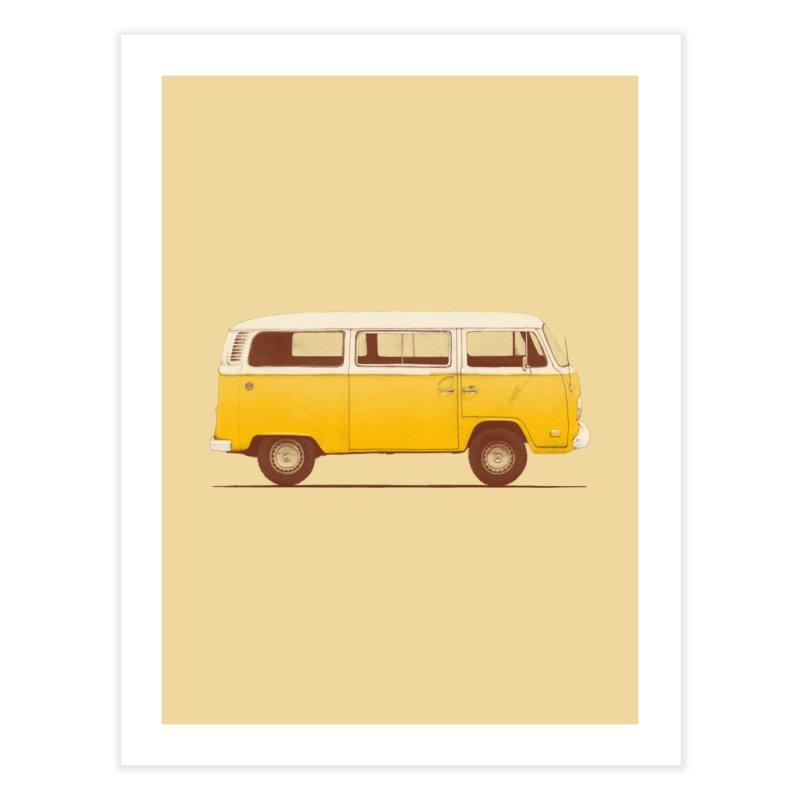Yellow Van Home Fine Art Print by Speakerine / Florent Bodart