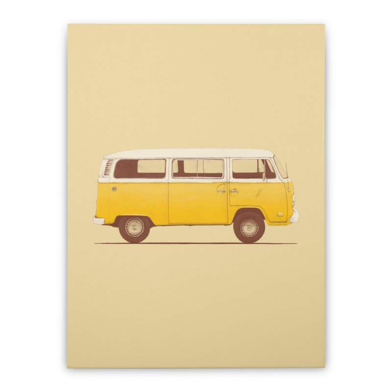 Yellow Van Home Stretched Canvas by Speakerine / Florent Bodart