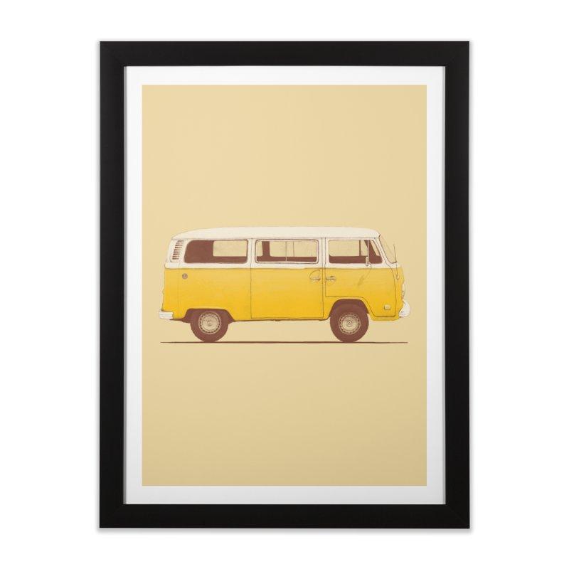 Yellow Van Home Framed Fine Art Print by Speakerine / Florent Bodart