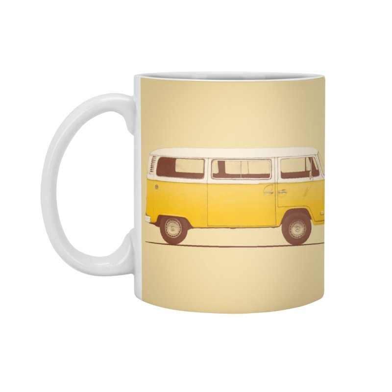 Yellow Van Accessories Mug by Speakerine / Florent Bodart