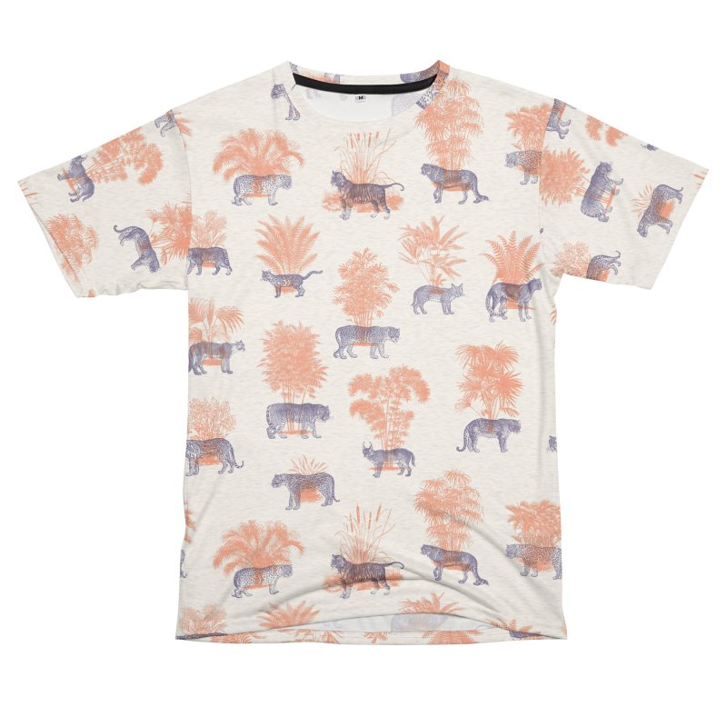 Where they Belong - Tigers Women's Unisex French Terry T-Shirt Cut & Sew by Speakerine / Florent Bodart