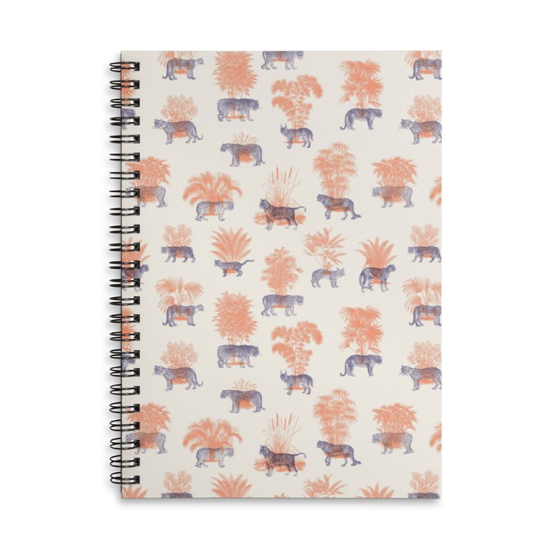 Where they Belong - Tigers Accessories Lined Spiral Notebook by Speakerine / Florent Bodart