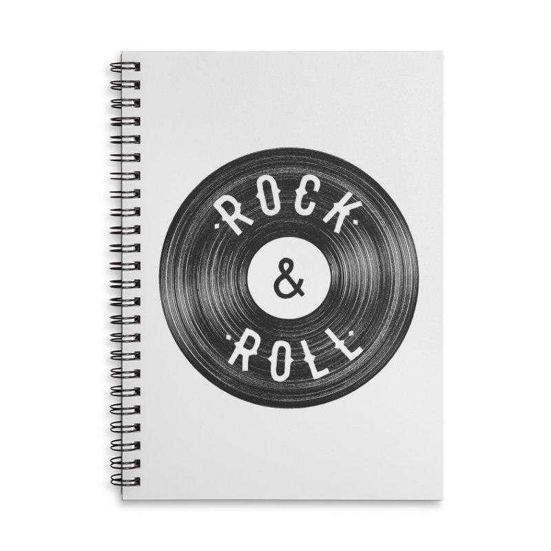 Rock n Roll Accessories Lined Spiral Notebook by Speakerine / Florent Bodart