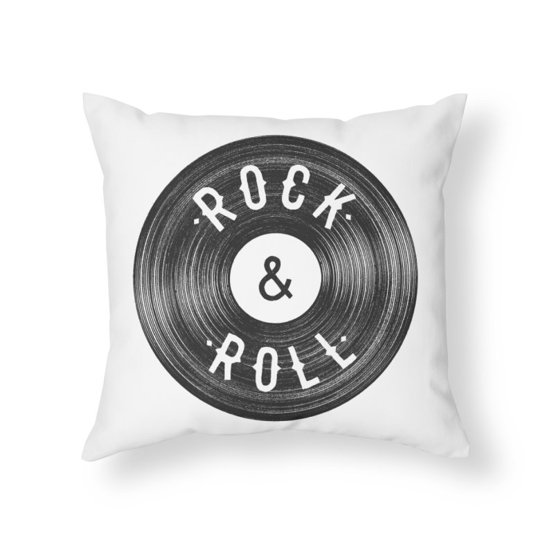 Rock n Roll Home Throw Pillow by Speakerine / Florent Bodart