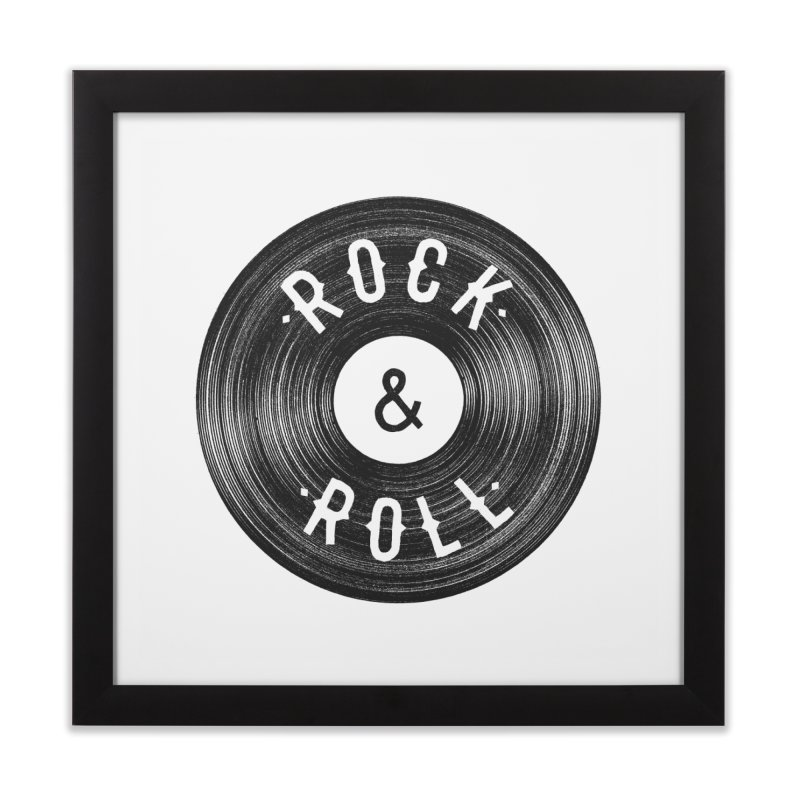 Rock n Roll Home Framed Fine Art Print by Speakerine / Florent Bodart