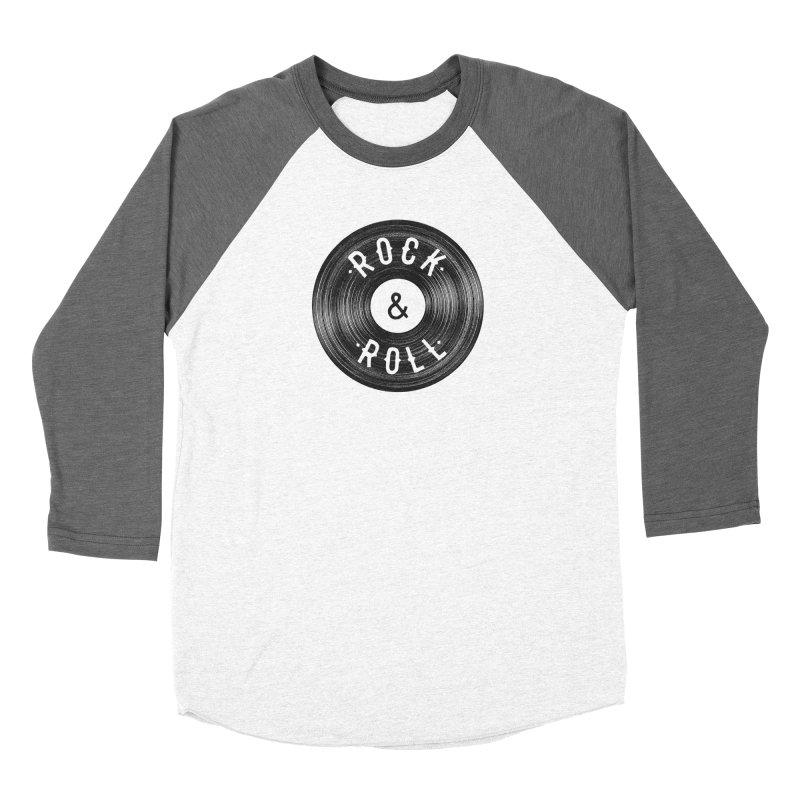 Rock n Roll Men's Baseball Triblend Longsleeve T-Shirt by Speakerine / Florent Bodart