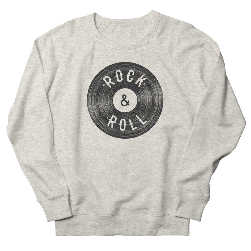 Rock n Roll Women's French Terry Sweatshirt by Speakerine / Florent Bodart