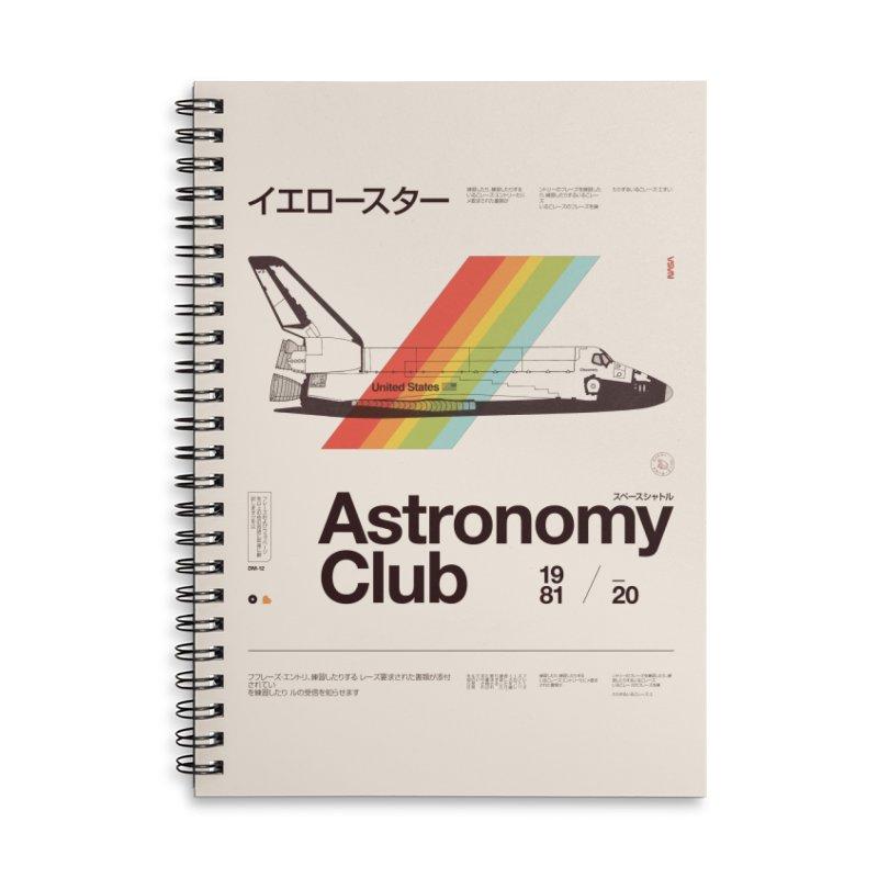 Astronomy Club Accessories Lined Spiral Notebook by Speakerine / Florent Bodart