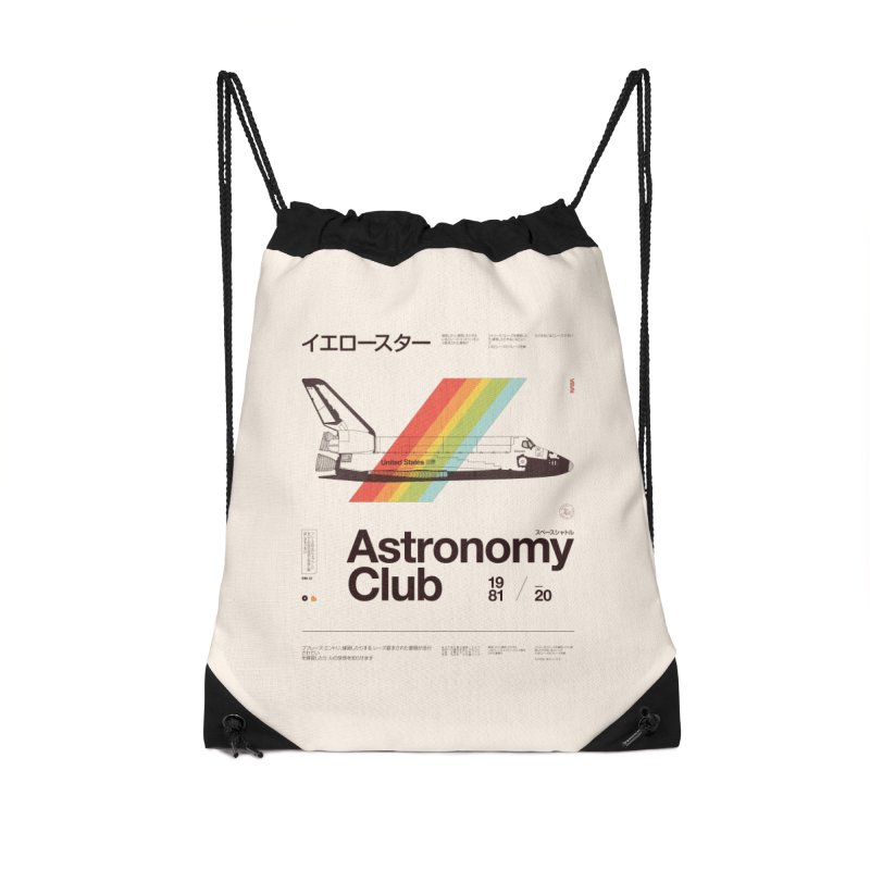 Astronomy Club Accessories Drawstring Bag Bag by Speakerine / Florent Bodart