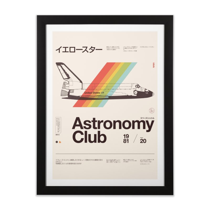 Astronomy Club Home Framed Fine Art Print by Speakerine / Florent Bodart